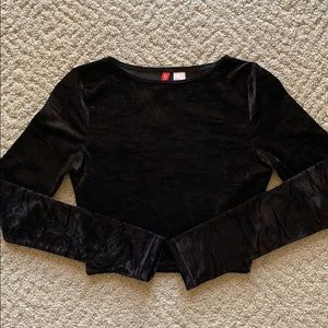 XS H&M Crushed Velvet Crop Top